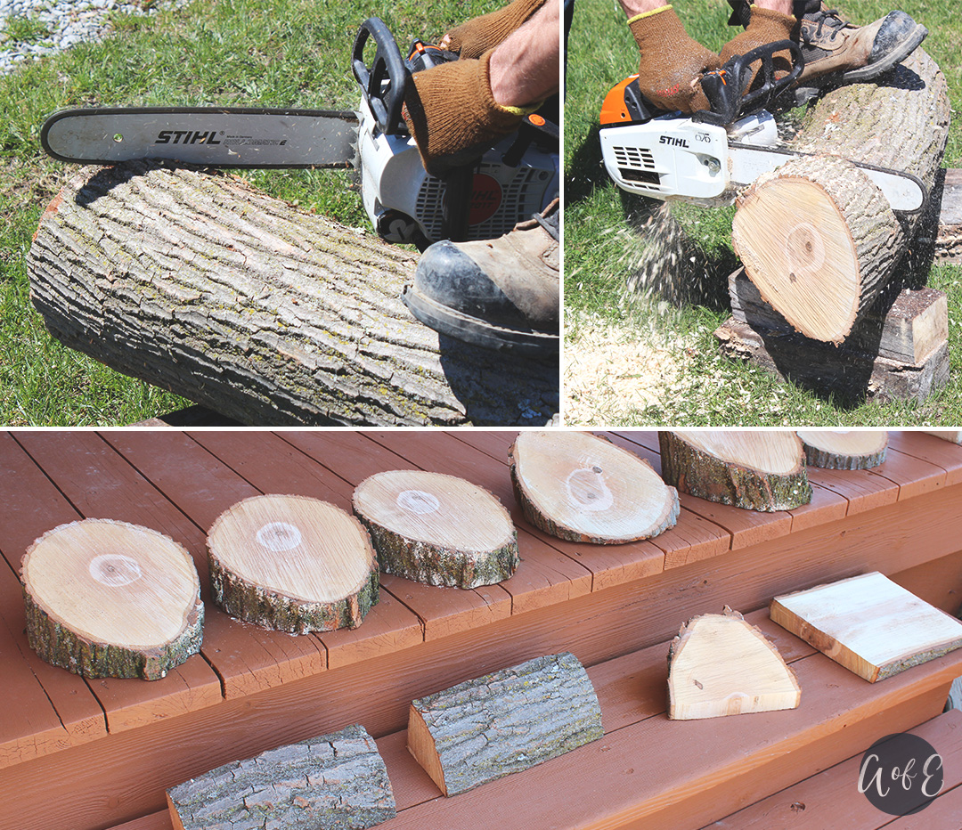 Step 1: Cut the wooden log