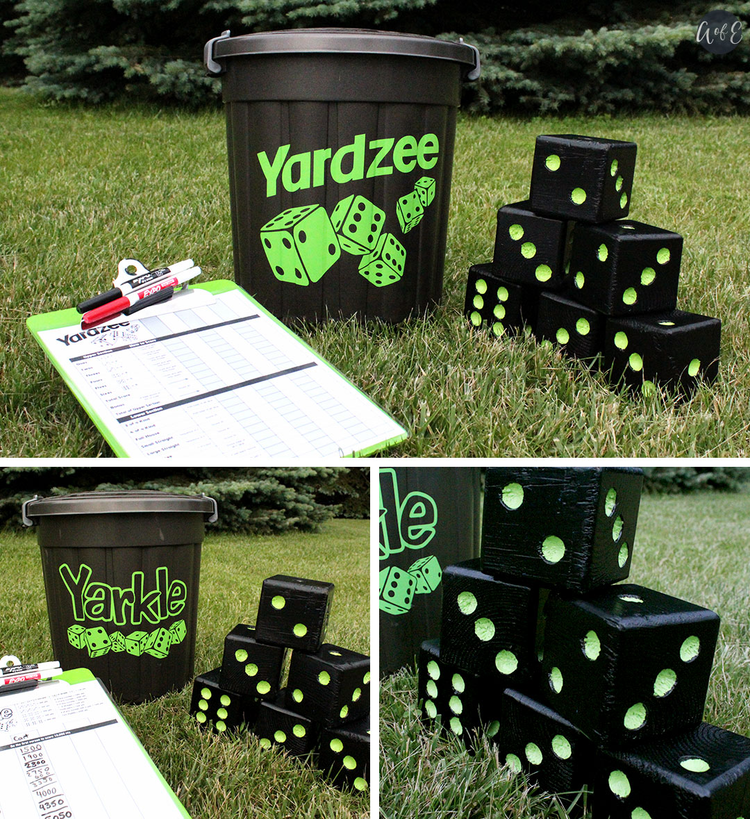 Green Finished Dice Set