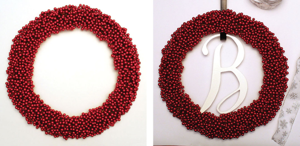 Add the letter to your wreath