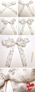 how to make the bow for your wreath