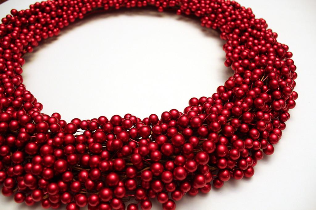Dense wreath full of beads