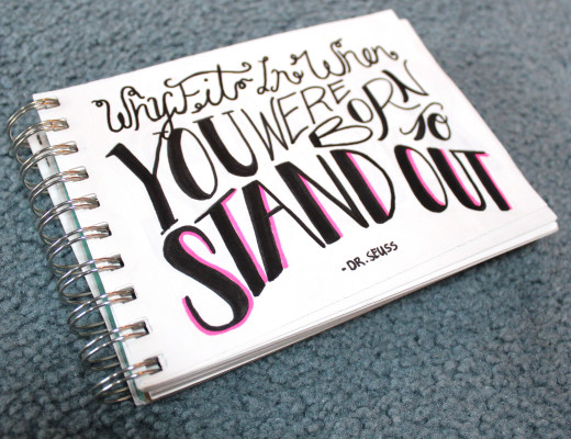 Why fit in when you were born to stand out - Dr. Seuss