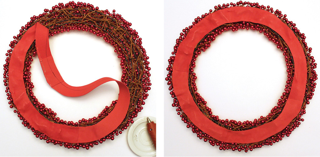 Add foam backing to your wreath