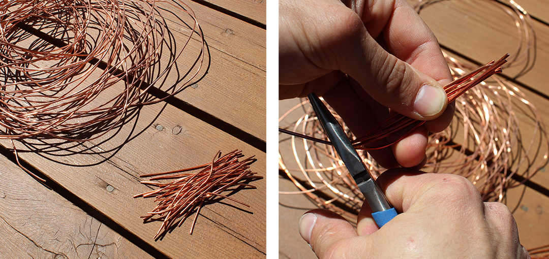 Step 2 Cut your wire pieces
