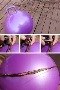 Step 3: Wrap your grapevine around the ball