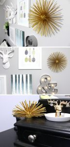 finished diy sea urchin for your gallery wall or shelf