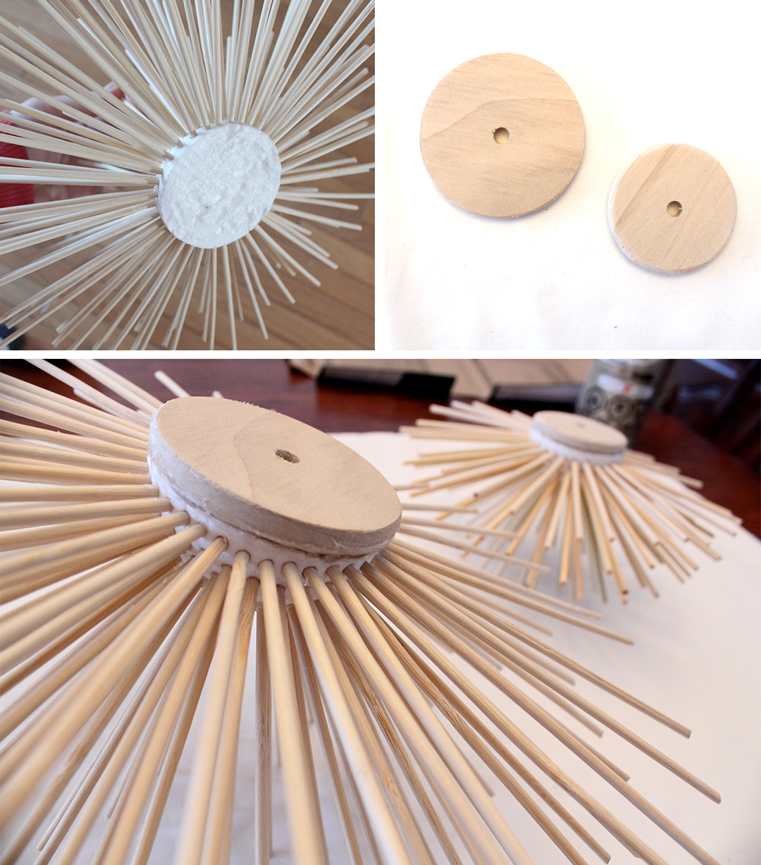 add a wooden back to your sea urchin