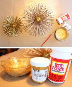 Paint your sea urchin with mod podge