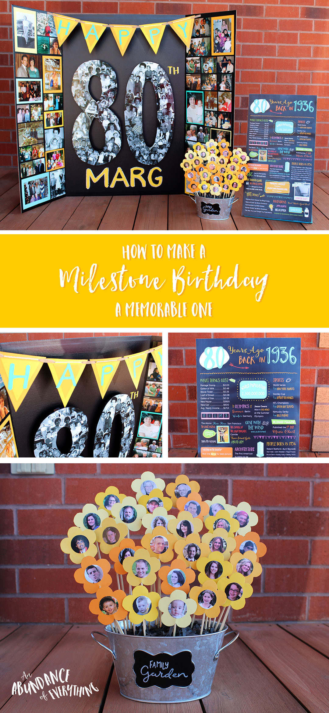 how to make a milestone birthday a memorable one