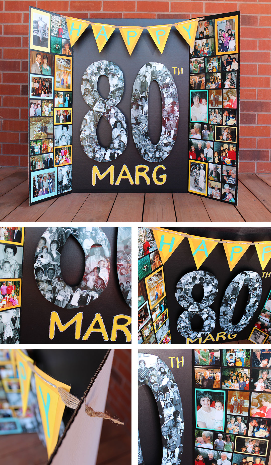milestone birthday photo display board