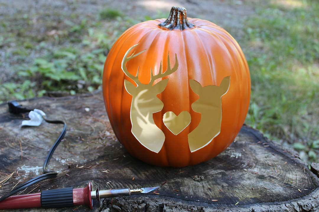 fully carved foam pumpkin
