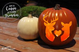 how to carve a foam pumpkin