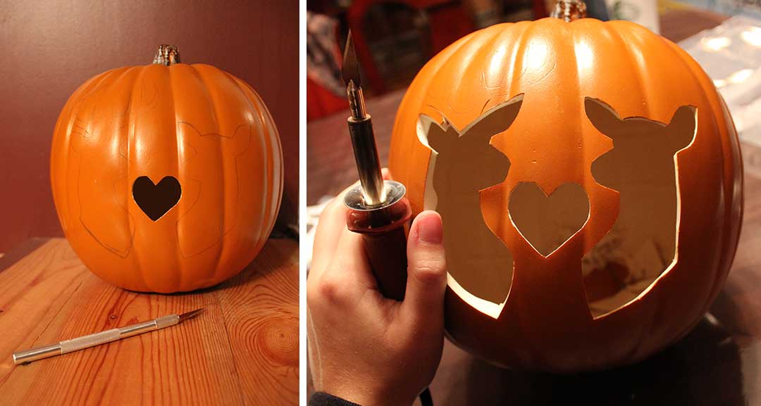 carve your foam pumpkin