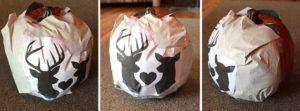 trace your design onto your foam pumpkin