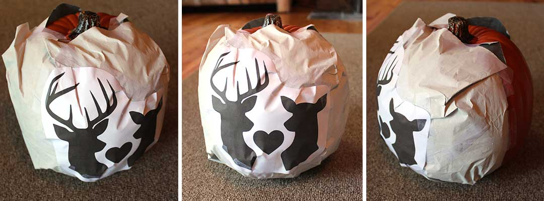 trace your design onto your foam pumpkin