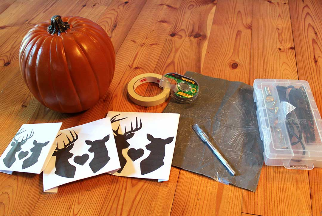 what you will need to carve a foam pumpkin