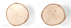 Create your own wood slice snowman ornament - Step-2 Draw snowman face