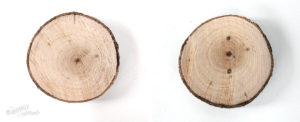 Create your own wood slice snowman ornament - Step-3 Draw snowman buttons