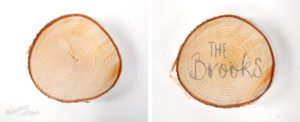 Create your own wood slice snowman ornament - Step-4 Draw custom message