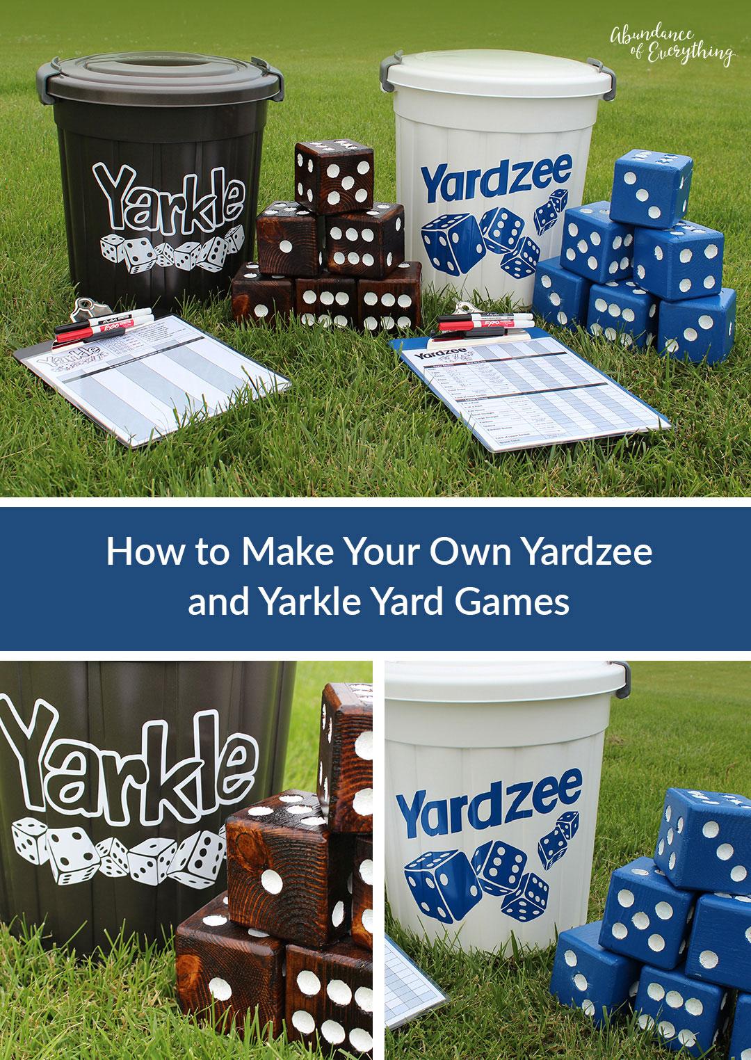 How to Make Your Own Yahtzee (Yardzee) and Farkle (Yarkle ...