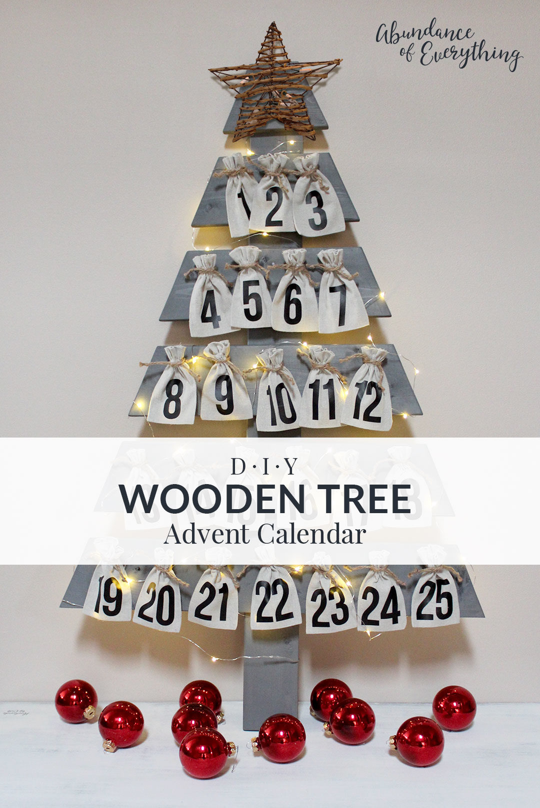 Diy Wooden Tree Advent Calendar Abundance Of Everything