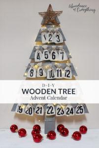 diy wooden tree advent calendar