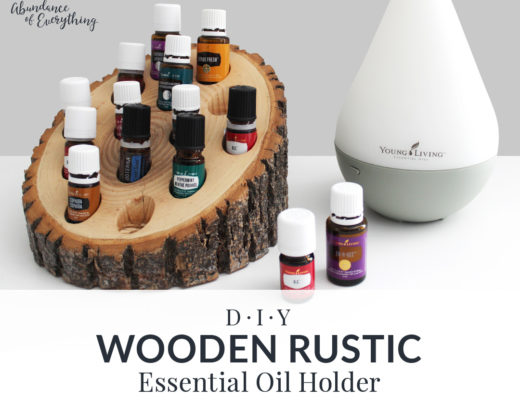 Do it yourself wooden rustic essential oil holder