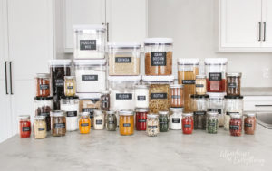 Organize your Pantry with Clear Containers and Labels